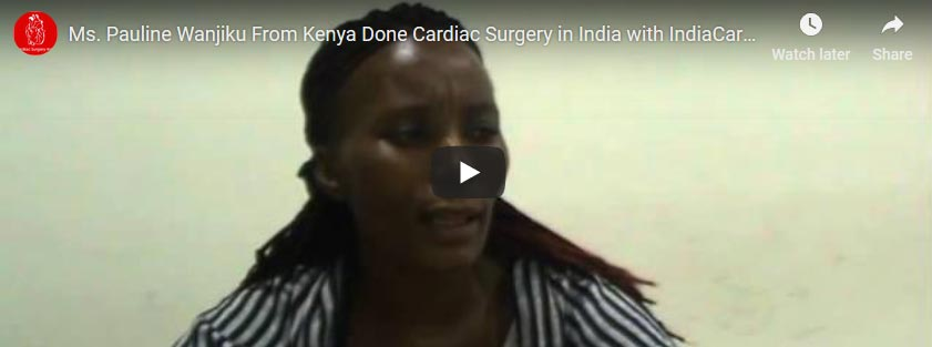 Pauline Wanjiku Aortic Valve Replacement Surgery India